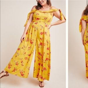 NWT Anthropologie Londonderry Floral Jumpsuit
